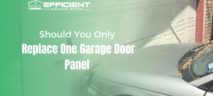 Should You Only Replace One Garage Door Panel